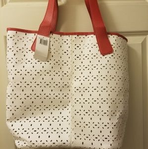Saks Fifth Avenue Perforated Faux Leather Tote